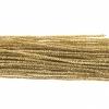Metallic Braided Cord 2mm 12m Gold